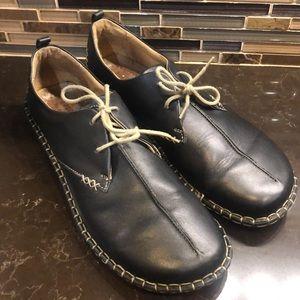 Josef Seibel black lace up comfort leather shoe 41